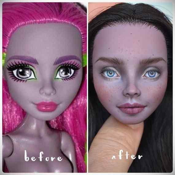 Muñecas maquilladas de forma realista. Galería de fotos impresionante. 12