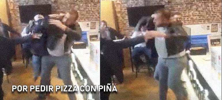 Pelea en la pizzeria. 14