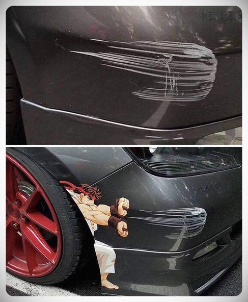 arreglos crativos golpes coche 07 - 10 maneras de arreglar el coche sin gastar dinero.