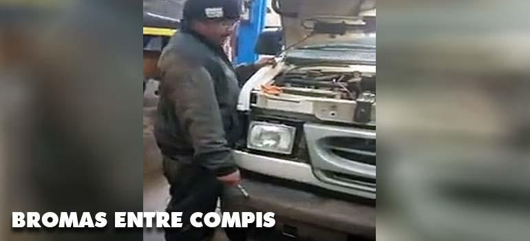 Bromas entre mecánicos. 1