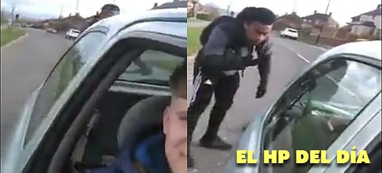 Este tipo frena el coche de golpe para que un ciclista se choque. 7
