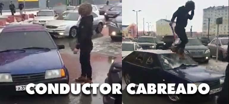 conductor cabreado - Este conductor Ruso se ha cabreado y con razón.