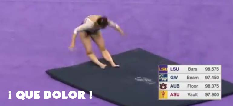 El vídeo de la gimnasta que se parte las dos piernas. 31