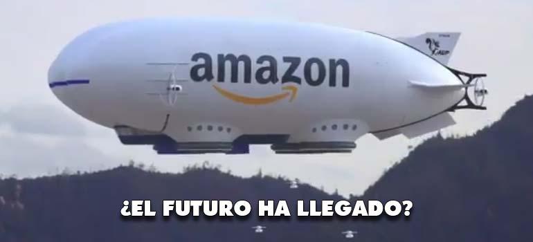 La nave nodriza de Amazon lanzando drones con los pedidos. 3