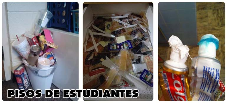 Cosas que puedes encontrar en un piso de estudiantes. 1