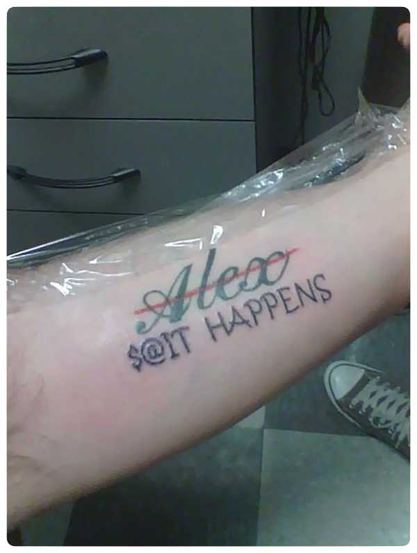 Arrepentidos de su tatuaje. Cuando el amor se termina. 5