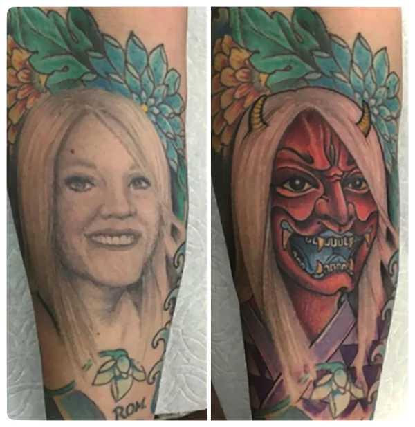 Arrepentidos de su tatuaje. Cuando el amor se termina. 10