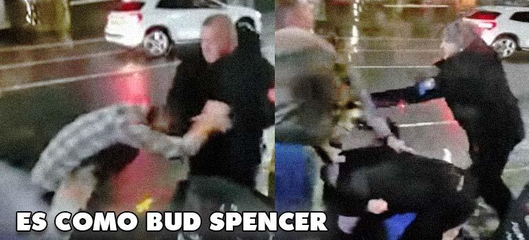 Un tipo se pone a repartir leña y se llevan todos los del bar. 3