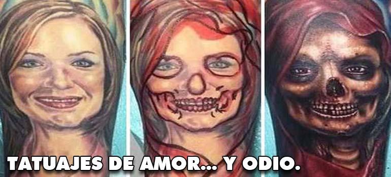 Arrepentidos de su tatuaje. Cuando el amor se termina. 1