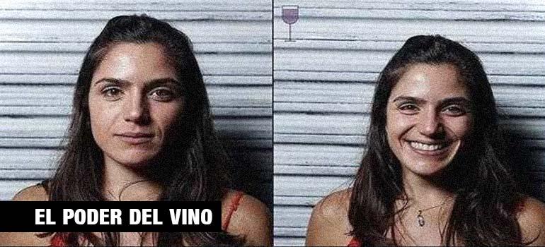 Fotos de personas antes y después de beber vino. 3