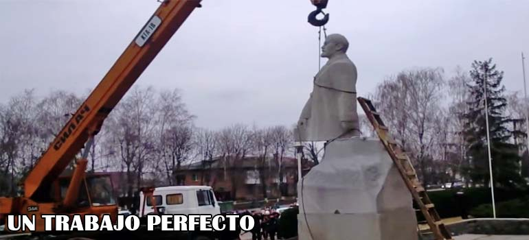 La instalación de una estatua de Lenin no termina nada bien. 5