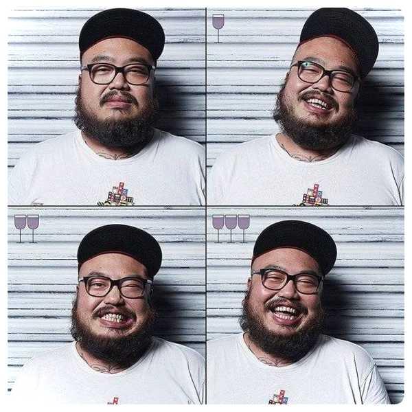 Fotos de personas antes y después de beber vino. 10
