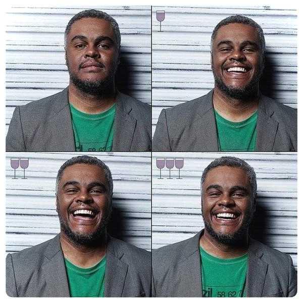 Fotos de personas antes y después de beber vino. 11
