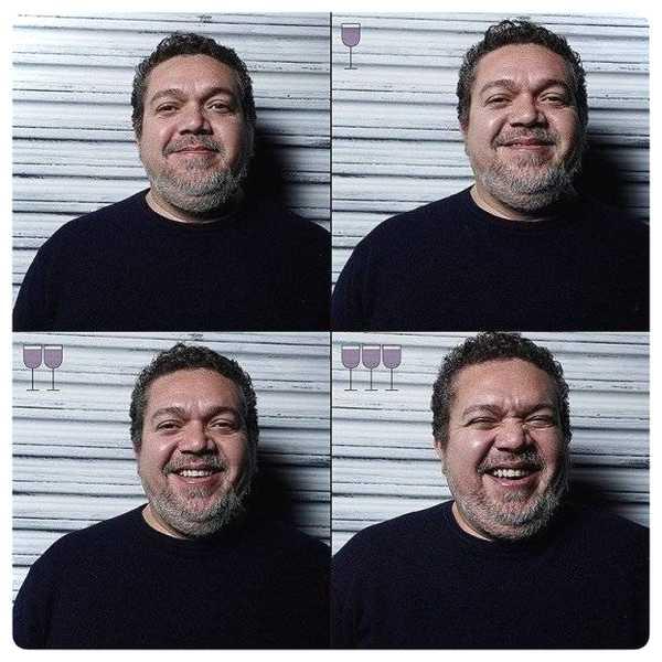 Fotos de personas antes y después de beber vino. 6