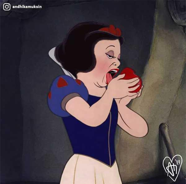 Artista se dedica a recrear a las princesas de Disney de una manera diferente. 15