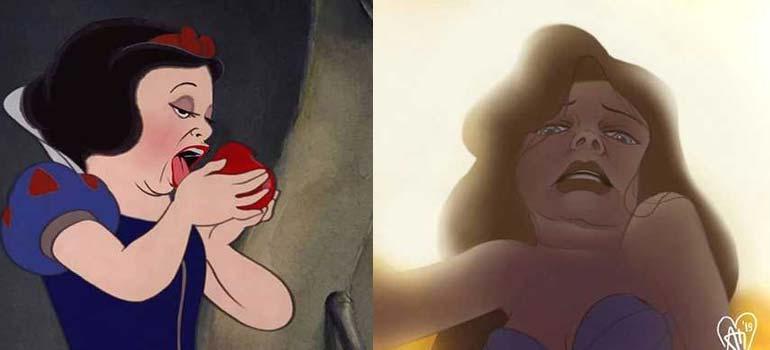 Artista se dedica a recrear a las princesas de Disney de una manera diferente. 22