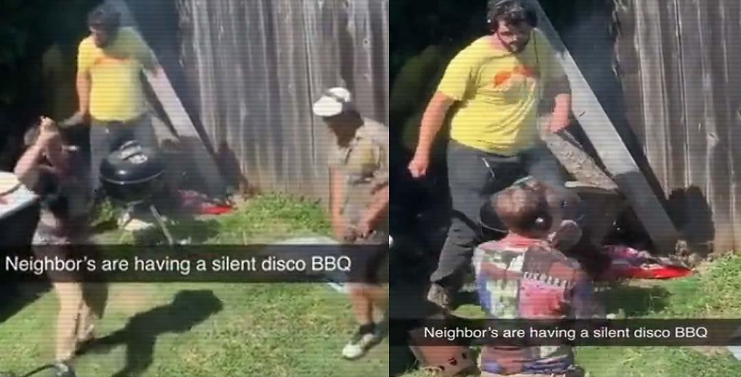 Los vecinos ideales, hacen una fiesta y barbacoa en completo silencio. 3