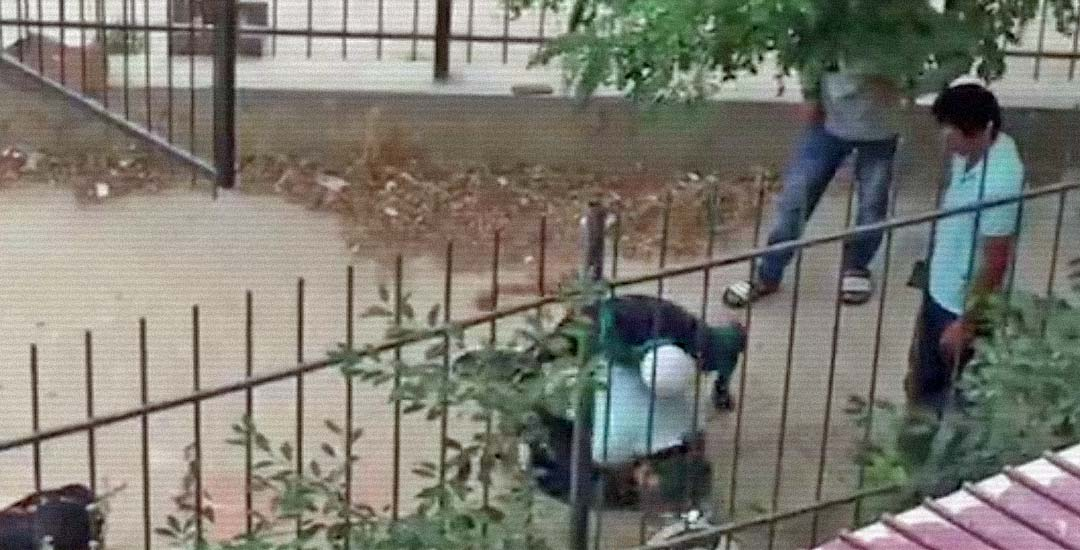 Se enfrenta a tres atracadores que estaban robando y pegando a un hombre. 9