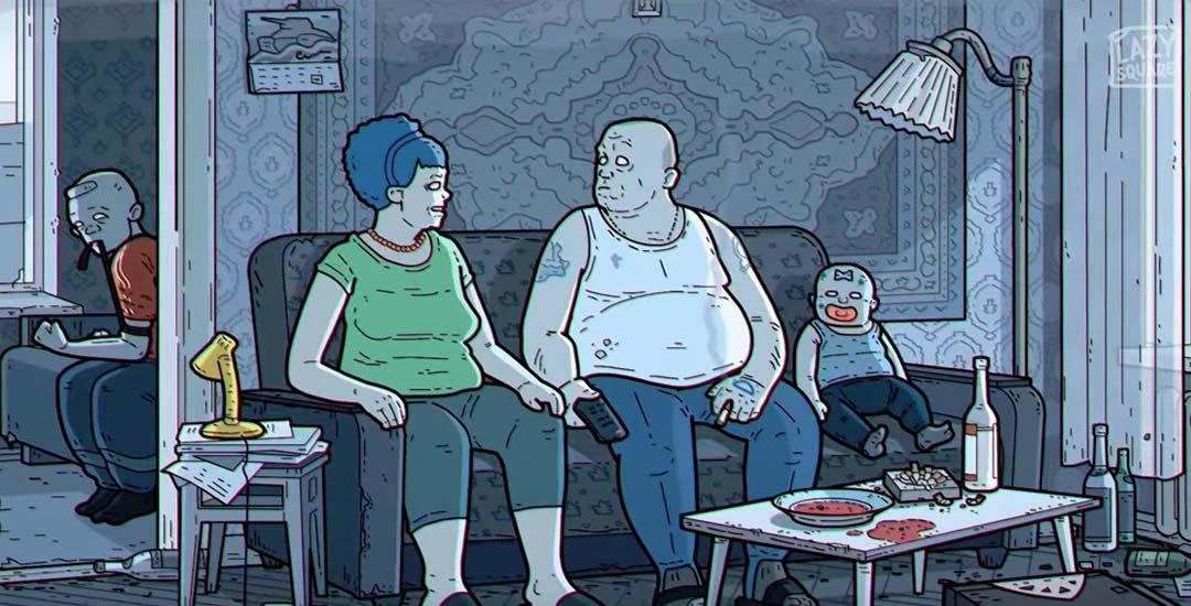 Los Simpsons versión Rusa. 1
