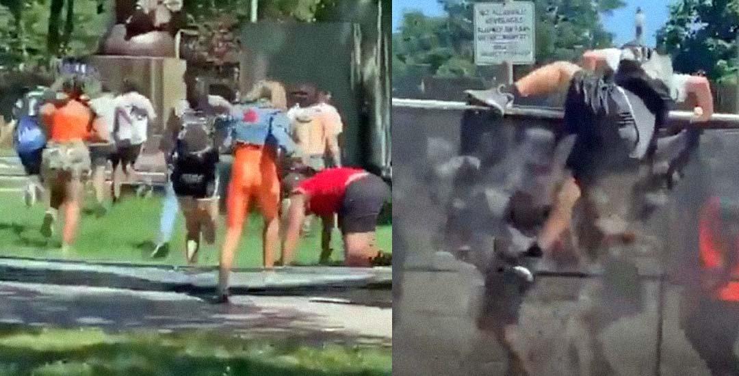 El policía se lanza a por el blanco fácil en este vídeo. 3