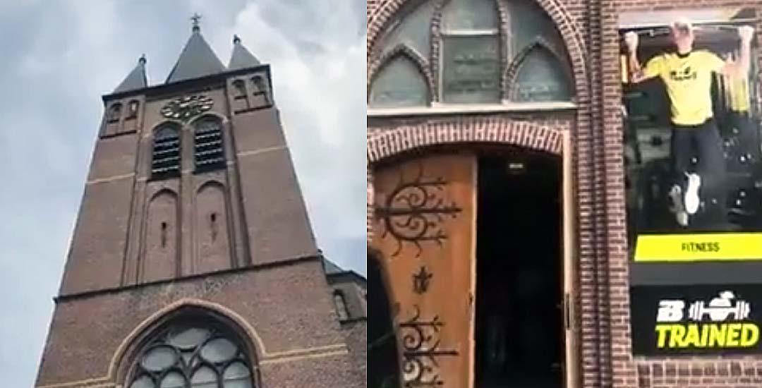 Curiosa Iglesia convertida en un gimnasio. 4