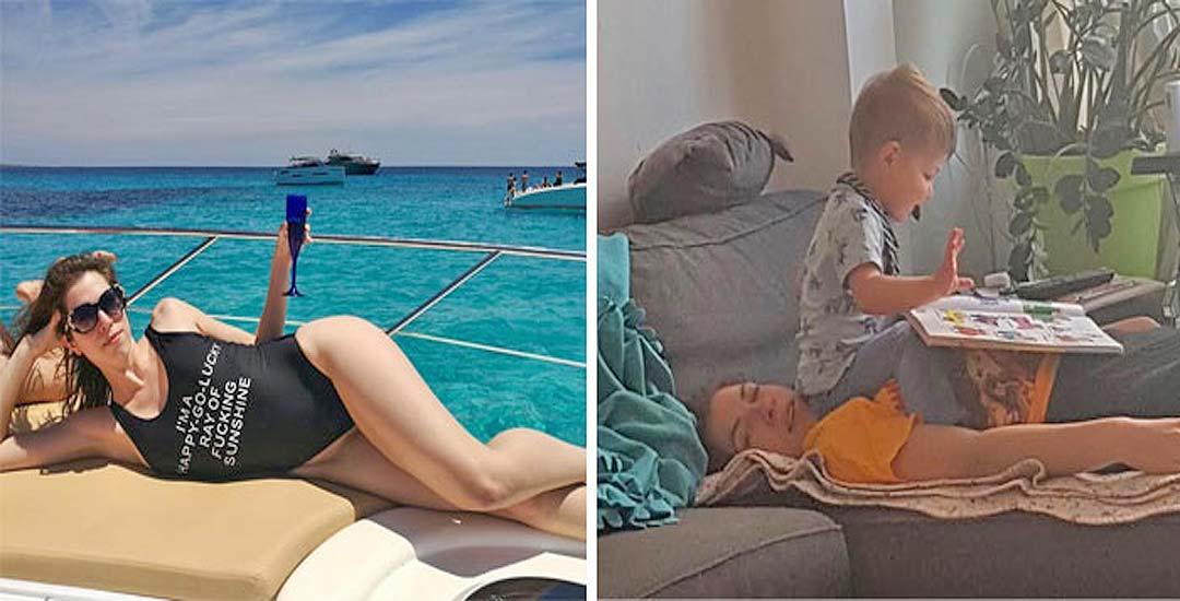 21 Fotos con el antes y el después de ser padres. 11