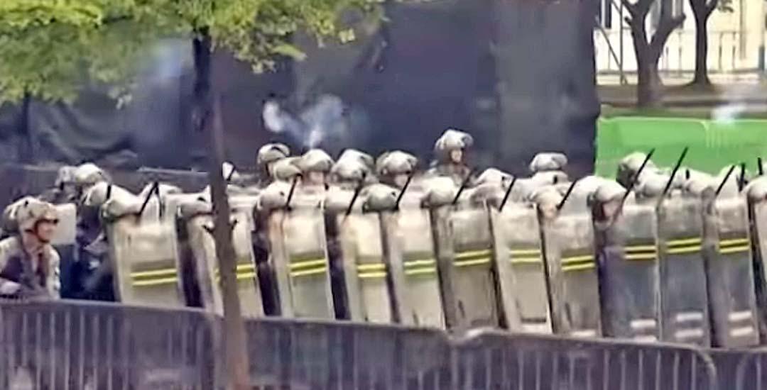 Técnicas usadas por los manifestantes en Hong Kong. 4