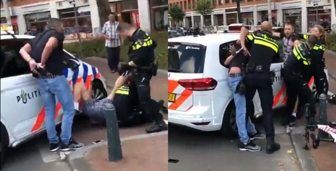Polacos detenidos en La Haya, insultan a la policía. 7