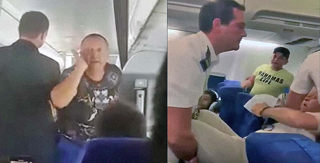Vídeos de personas que la han liado parda en un avión. 4