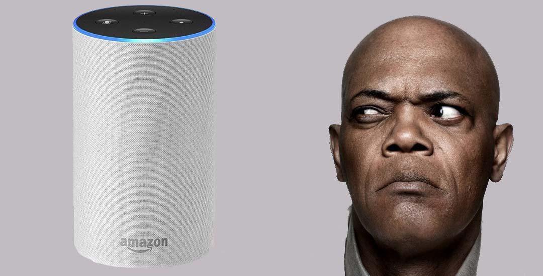 Samuel L. Jackson presta su voz al dispositivo Alexa de Amazon. 28