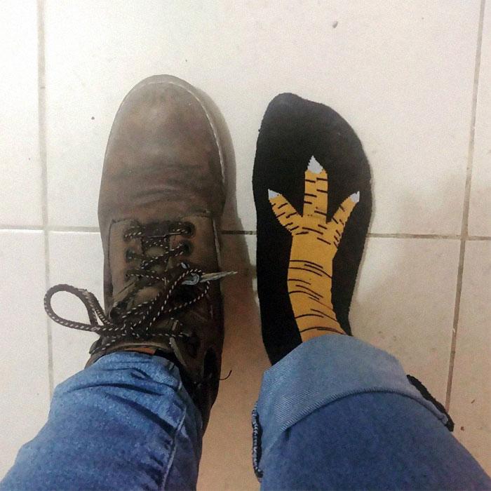 Los calcetines pata de pollo lo están petando en todo el mundo. 6