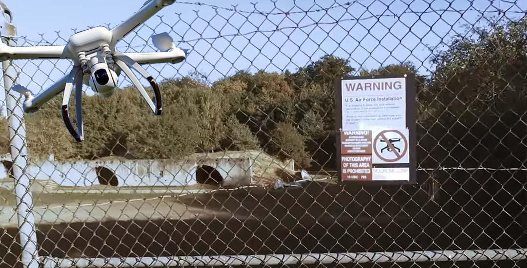 Dron derribado al entrar en el Área 51. Vídeo. 2