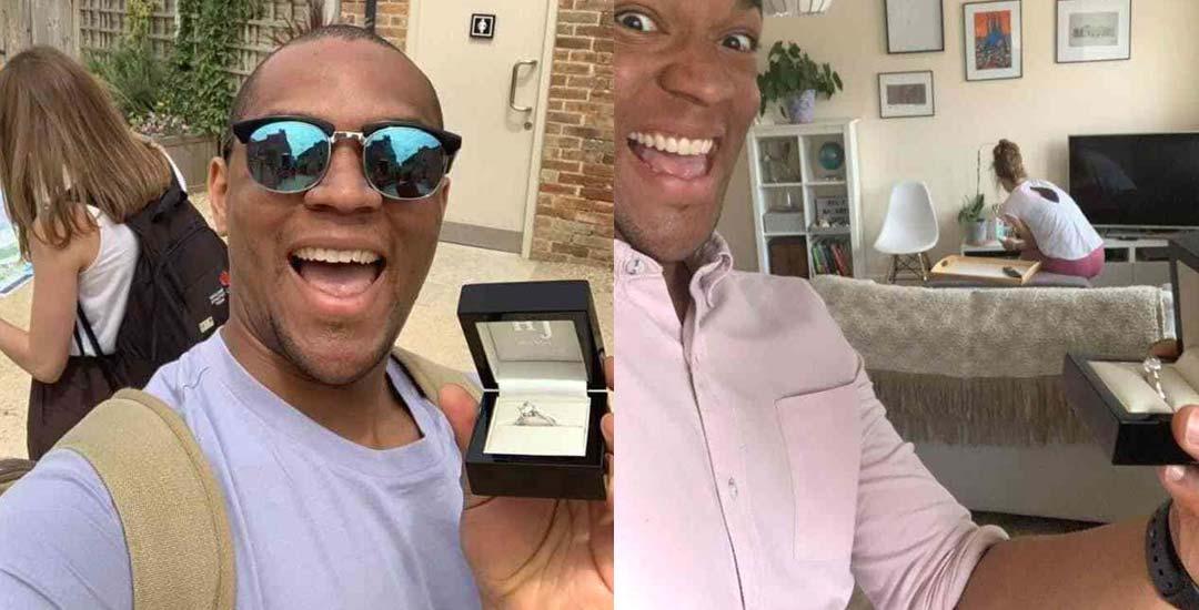 Un mes sacándose fotos con el anillo de compromiso sin que su novia se entere. 6