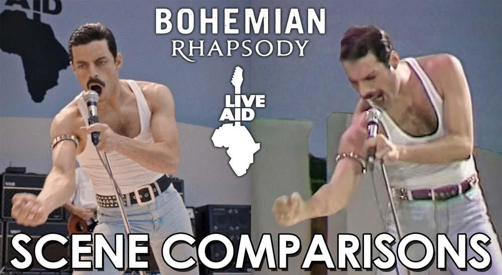 Comparando la película Bohemian Rhapsody con las escenas originales del concierto Live Aid de 1985 5