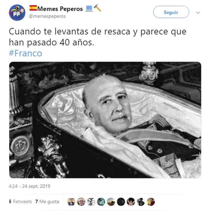 Memes exhumación de Franco, los 20 mejores 18