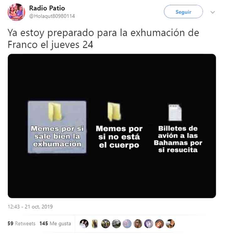 Memes exhumación de Franco, los 20 mejores 19