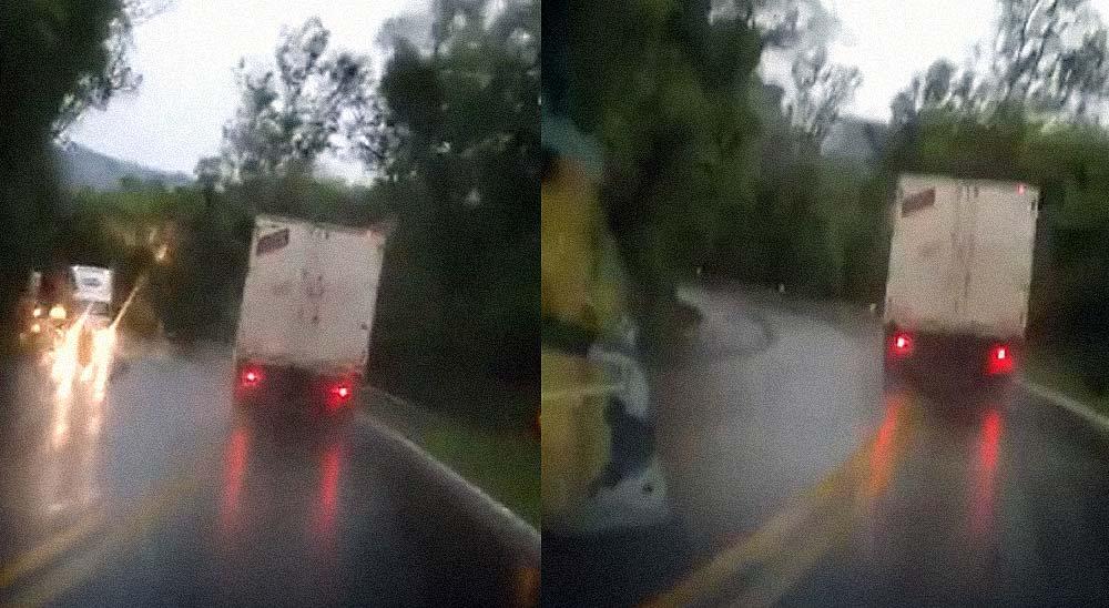 Un camión se queda sin frenos bajando un puerto [Vídeo] 1