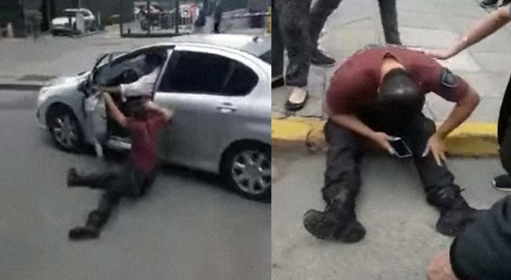 Conductor atropella a un policía al negarse a bajar del coche 7