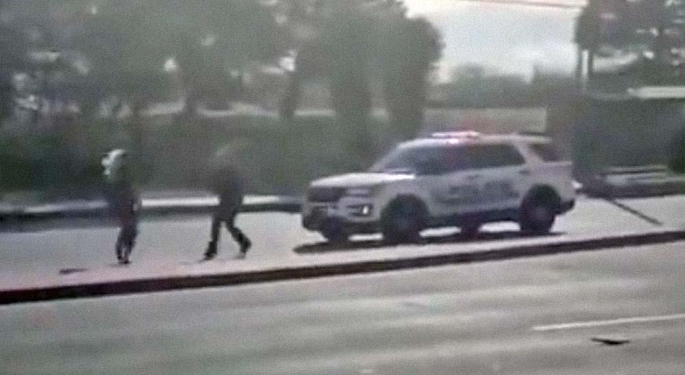 Delincuente roba el coche a la policía 1