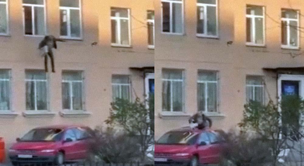 Detenido esposado a un radiador, salta desde un segundo piso y escapa 18
