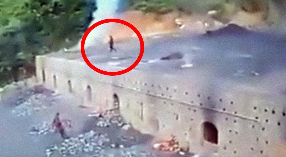 Un hombre cae dentro un horno gigante de ladrillos [Vídeo] 4