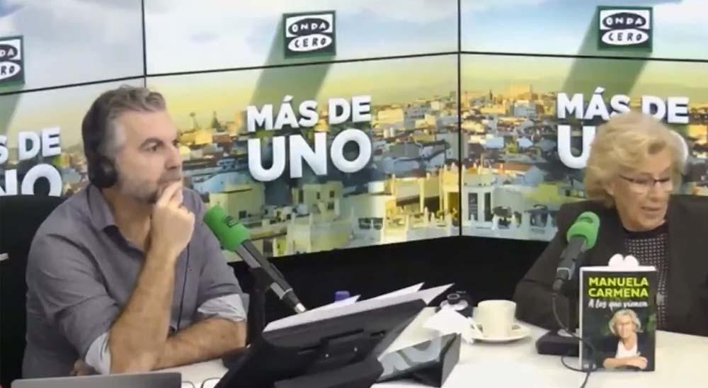 Alguien se tira un pedo en el programa de Alsina mientras entrevista a Manuela Carmena 1