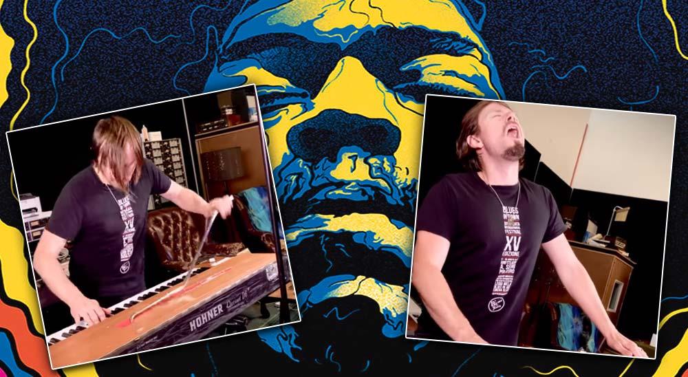 Cover de Voodoo Child de Jimi Hendrix en un teclado con Whammy Bar 12