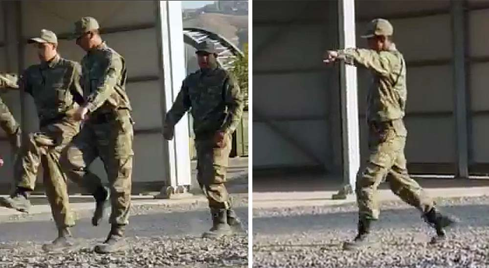 Fail desfilando, el soldado más patoso del mundo [vídeo] 1
