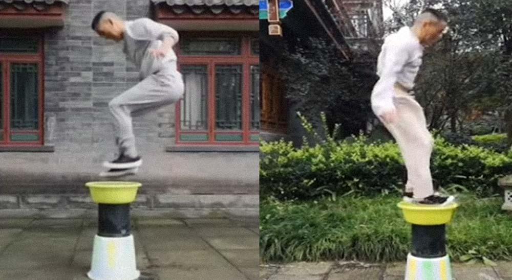 Maestro de Kung Fu levita por encima del agua [Vídeo] 7