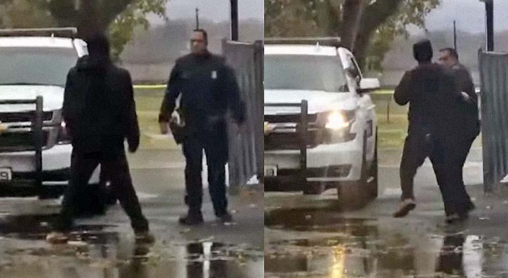 Policía recibe un puñetazo y decide soltar al perro para reducir al agresor 3