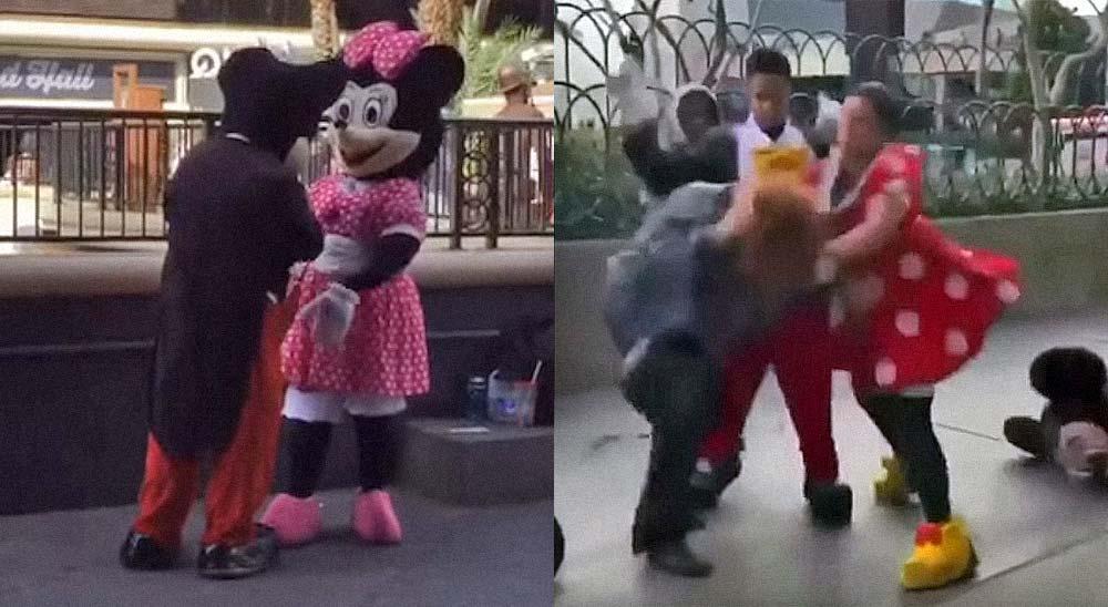 Minnie Mouse se lía a puñetazos con una mujer en las calles de las Vegas 8