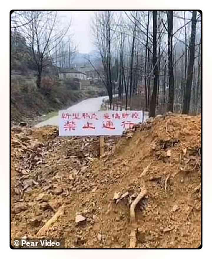 Los aldeanos Chinos fortifican pueblos para evitar que entre gente infectada [Vídeos y fotos] 5