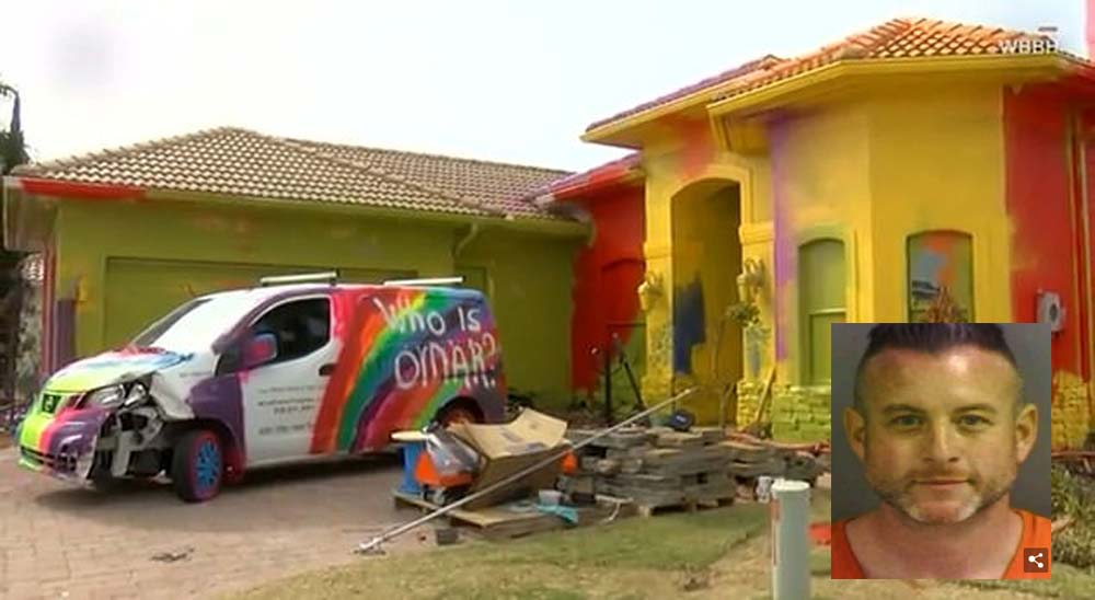 Un hombre convierte su casa de 450.000 euros en una pesadilla tecnicolor 1