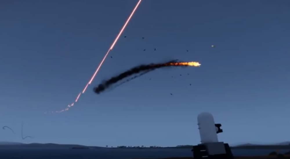 El sistema de defensa antimisiles de EE.UU en acción repeliendo los misiles en Irán 8
